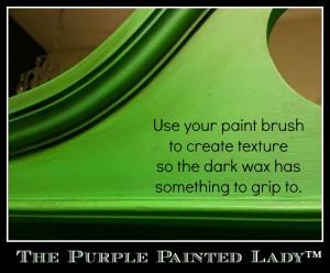 The Purple Painted Lady Antibes Green Texture Dark Wax