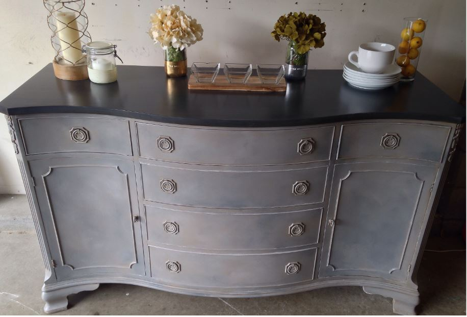 Paris Grey Graphite And Coco Chalk Paint 174 Buffet The