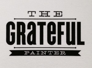 The Purple Painted Lady The Grateful Painter Logo