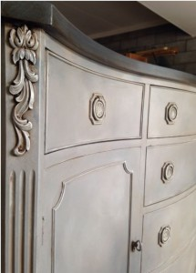 The Purple Painted Lady The Grateful Painter corner shot Buffet Chalk Paint General Finish Glaze