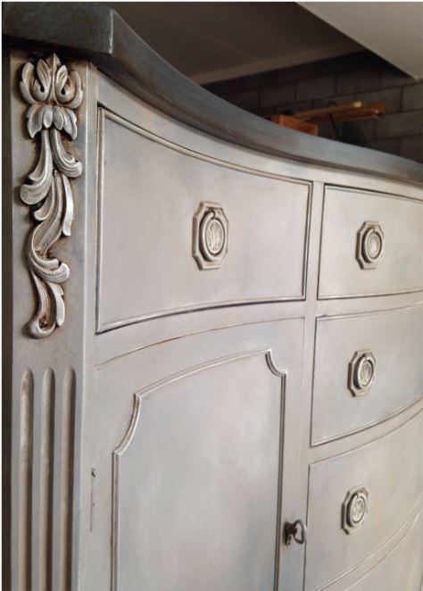 Annie Sloan Chalk Paint Paris Grey Kitchen