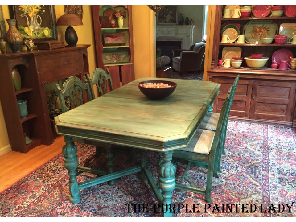 Florence Provence Chalk Paint The purple Painted Lady Indigo Tones Dining table Kerry