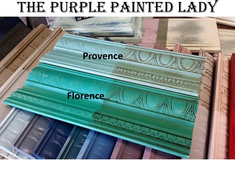 Florence Provence Chalk Paint The purple Painted Lady Samle Boards