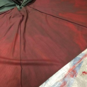 The Purple Painted Lady Patio Umbrella Primer Red In Process