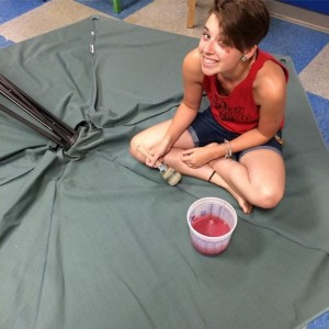 The Purple Painted Lady Patio Umbrella Primer Red In Process Courtney