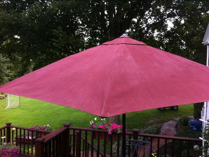 The Purple Painted Lady Patio Umbrella Primer Red After 2 Close Up