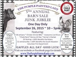 Barn Sale 2015 Chalk Paint Logo The purple Painted Lady RAFFLE 2015 RWM