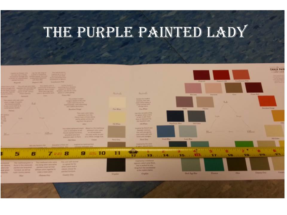 Color Chart with measuring tape inside