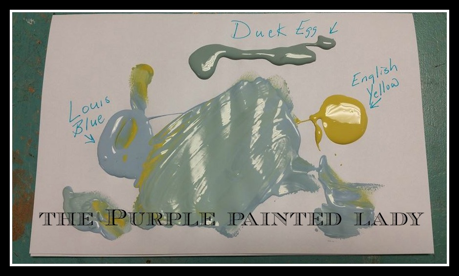 English Yellow Duck Egg Louis Blue Recipe The Purple Painted Lady Chalk Paint recipe