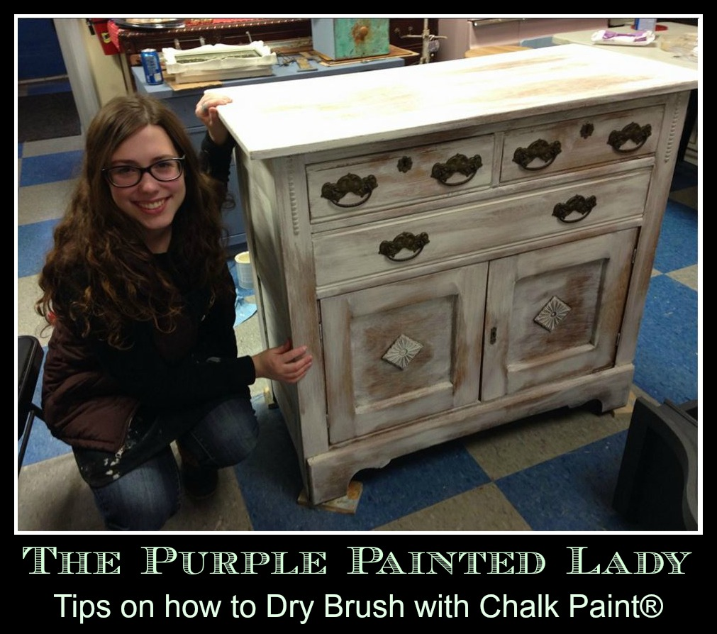 Dry Brushing The Purple Painted Lady Old White Chalk Paint Annie Sloan