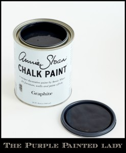 The Purple Painted Lady Graphite Chalk Paint open lid