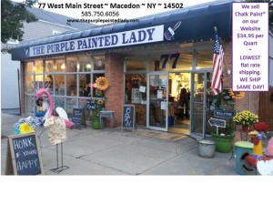 Store front 77 Main Street Sidewalk sale Facebook profile photo vertical website