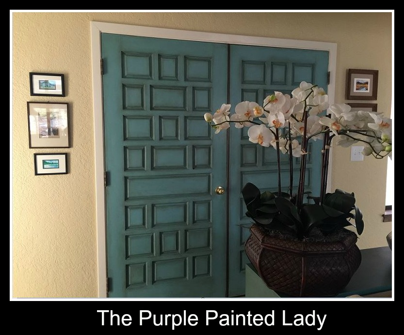 The Purple Painted Lady Helen Going Finished Doors Provence