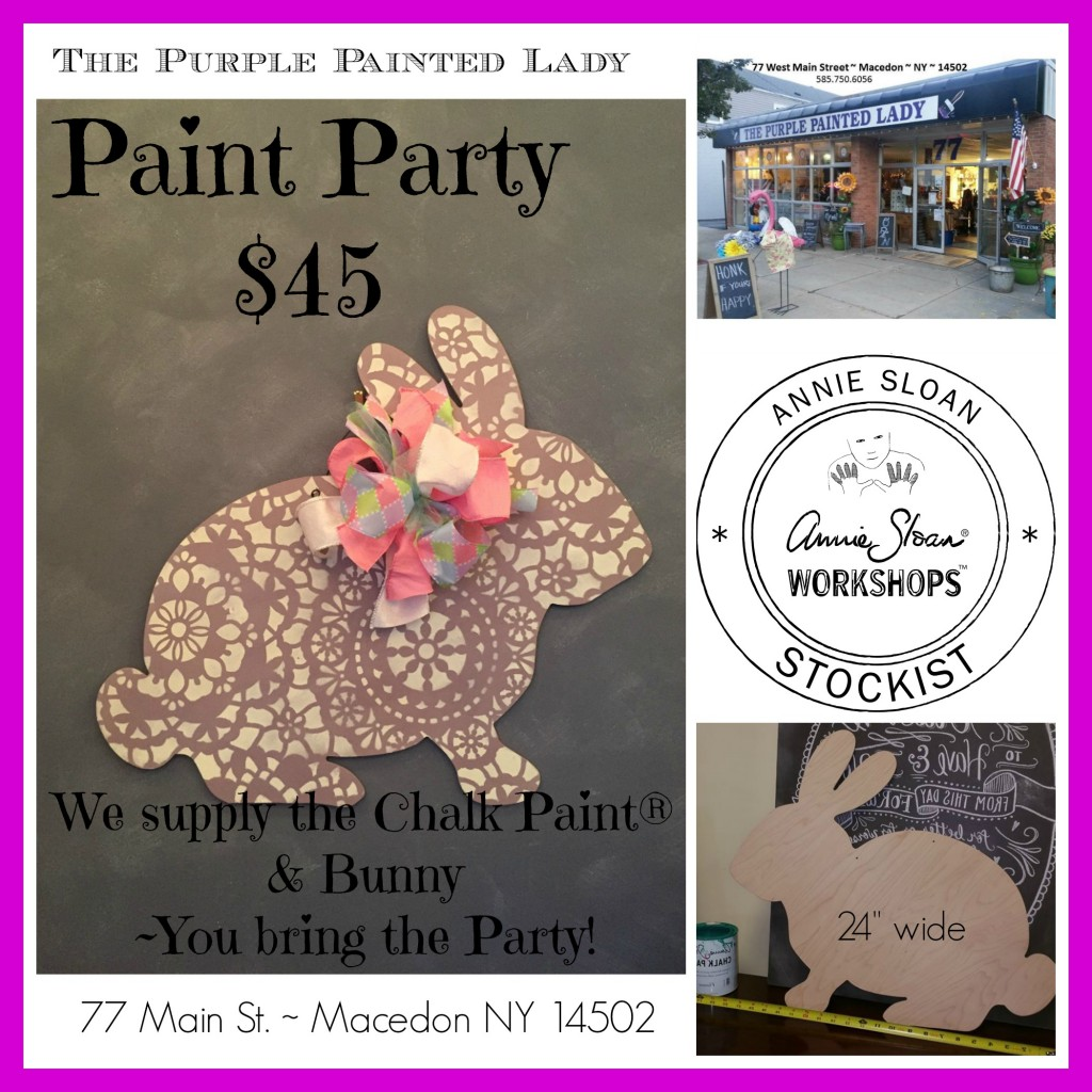 March Painting Party The purple Painted Lady Chalk Paint Annie Sloan 2016