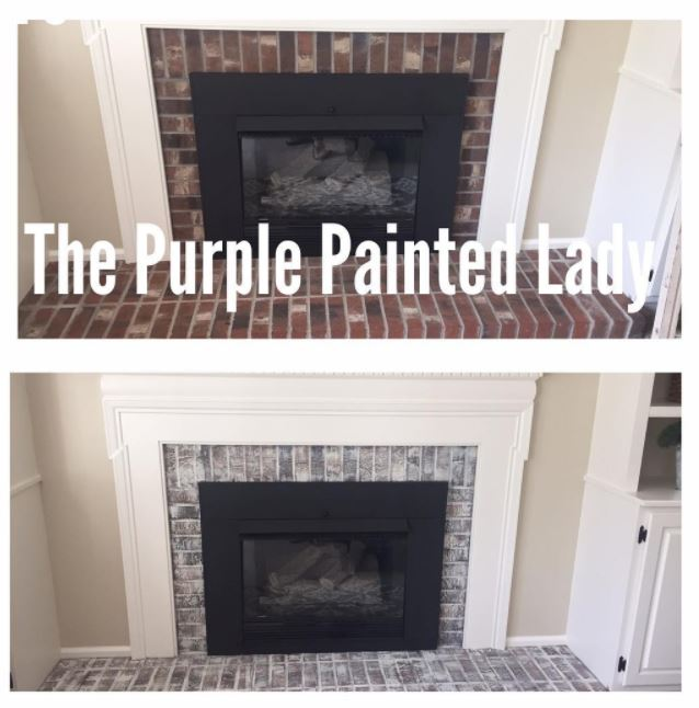 Primer Red Chalk Paint By Annie Sloan And Java Gel General Finishes Debbie Ballo Used Both Transformed Her Fireplace Surround We Love It