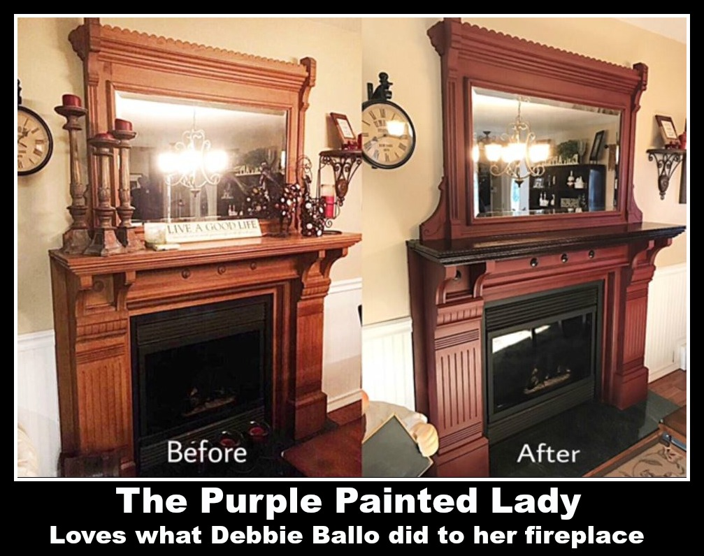 fireplace the purple painted lady