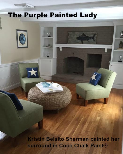 The Purple Painted Lady Fireplace Coco Chalk Paint Kristin Belsito Sherman