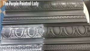 The Purple Painted Lady Graphite with WHITE Black Dark Clear Wax Sample Board Chalk Paint