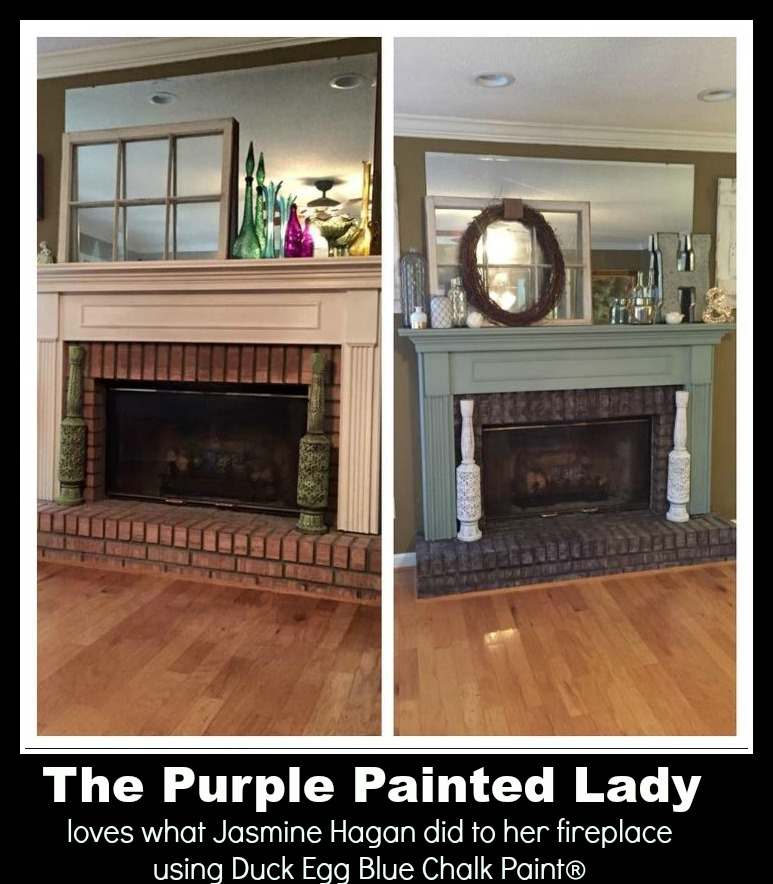 The Purple Painted Lady Jasmine Hagen Fireplace Duck Egg Chalk Pant Annie Sloan