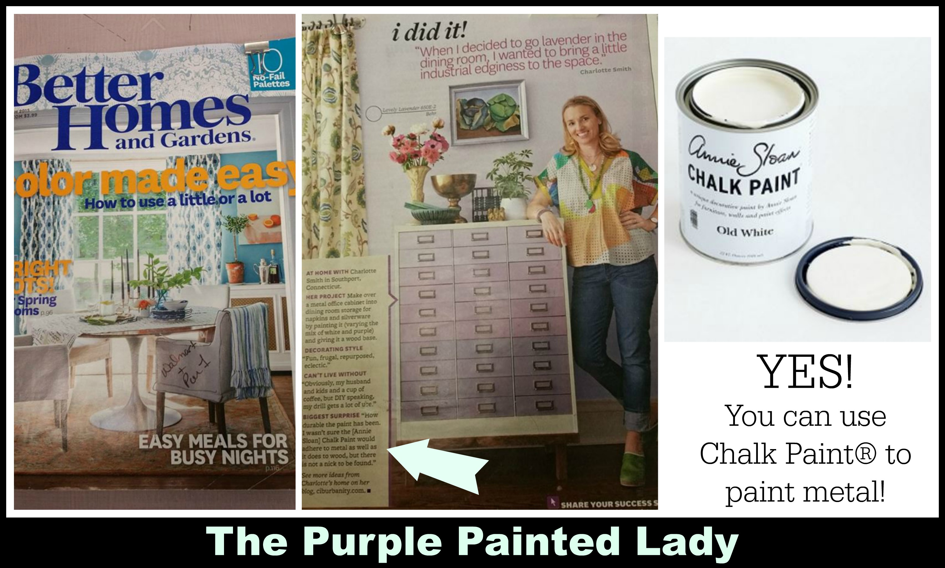 The Purple Painted Lady Painting Metal Chalk Paint Better Homes and Gardens