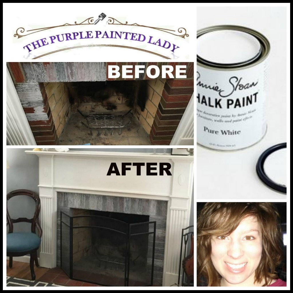 Fireplace Rock Ideas Paint Your Fireplace Mantle Or Surround With Chalk Paint