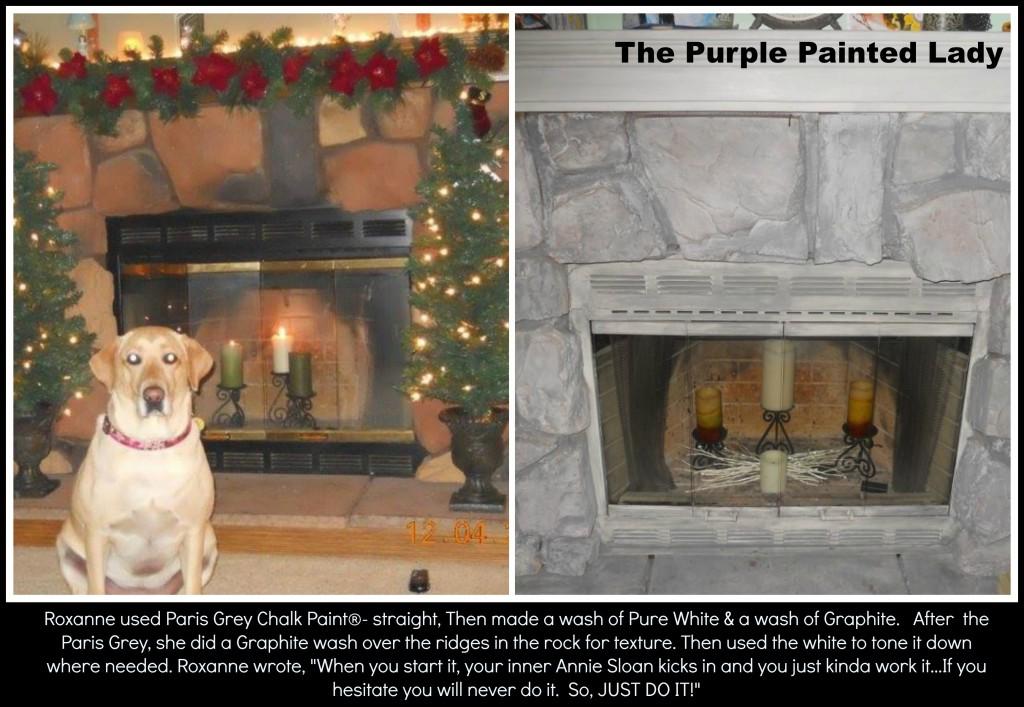 The Purple Painted Lady Roxanne Serritos Fireplace Paris Grey Chalk Paint