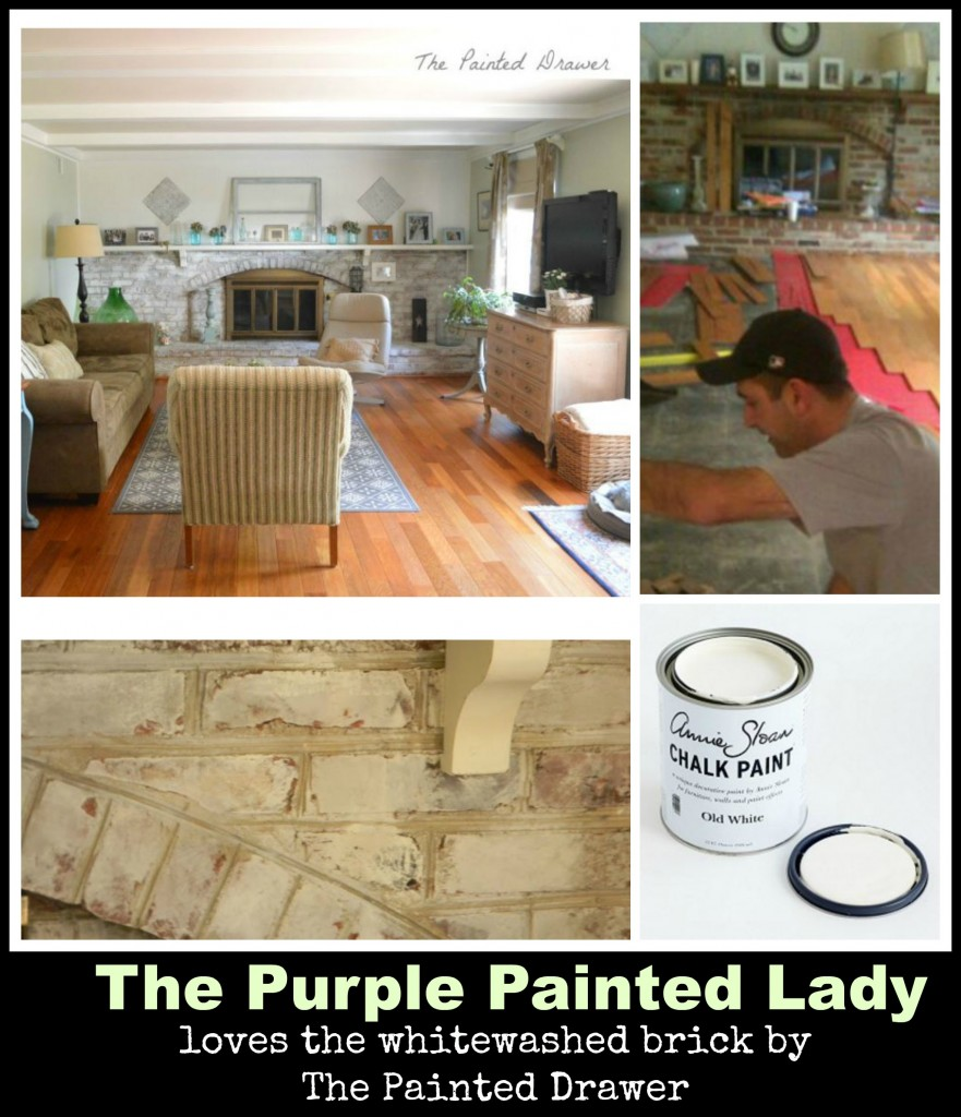 The Purple Painted Lady Whitewashed Old White Brick The Painted Drawer