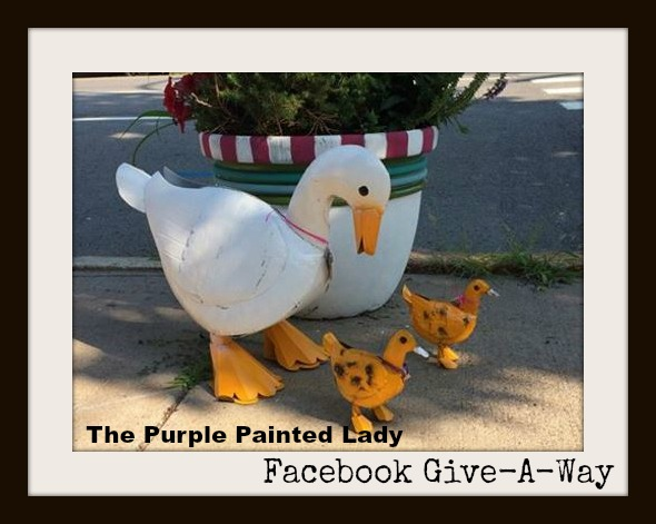 Duck The Purple Painted Lady