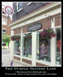 The Purple Painted Lady west genesee Baldwinsville Chalk Paint FRONT Savvy Chick