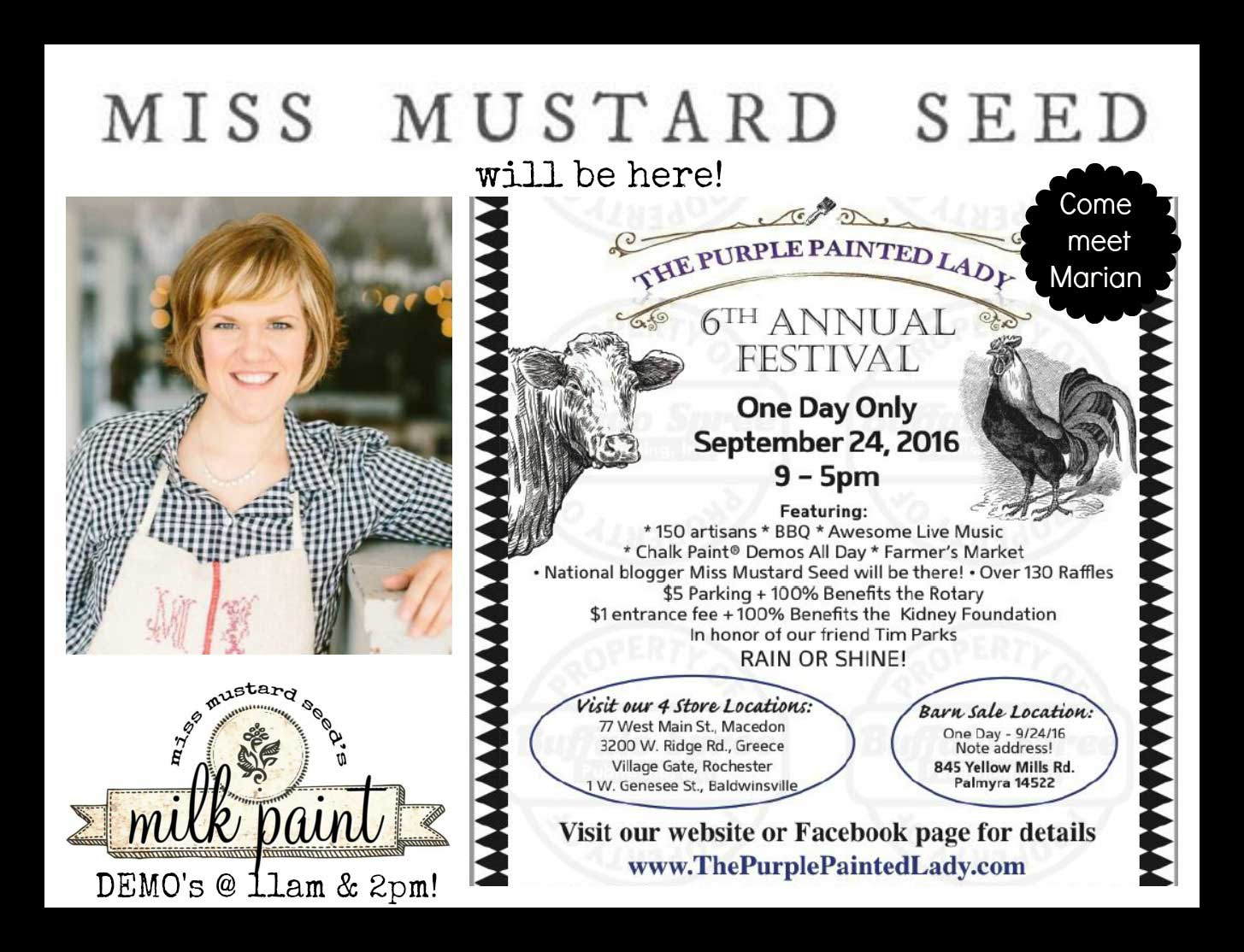 Miss Mustard Seed Milk Paint The Purple Painted Lady Barn Sale 2016 PR