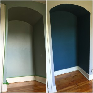 The Purple Painted Lady Carrie Titlow Alcove Transformation Chalk Paint by Annie Sloan
