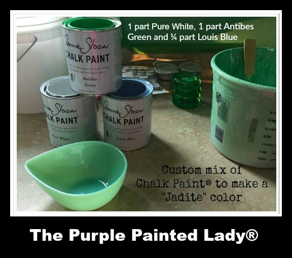 The Purple Painted Lady Chalk Paint Jadite Custom recipe
