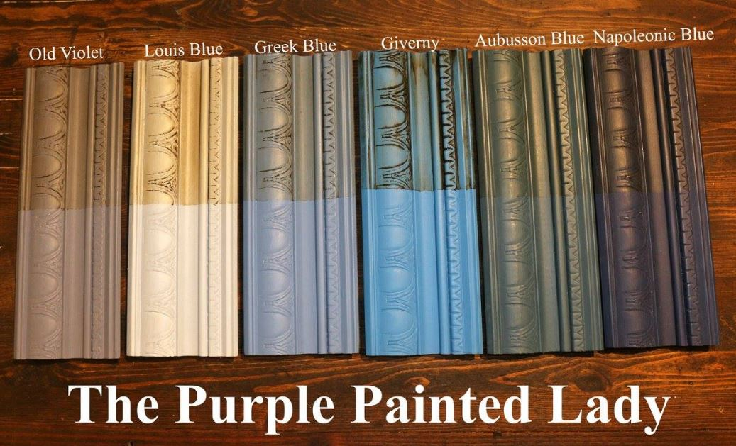 The Purple Painted Lady Giverny Chalk Paint Annie Sloan Comparison Blues