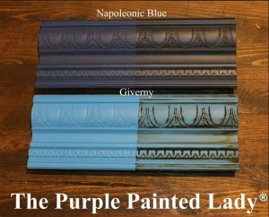The Purple Painted Lady Giverny Napoleonic Blue Comparison Chalk Paint Annie Sloan