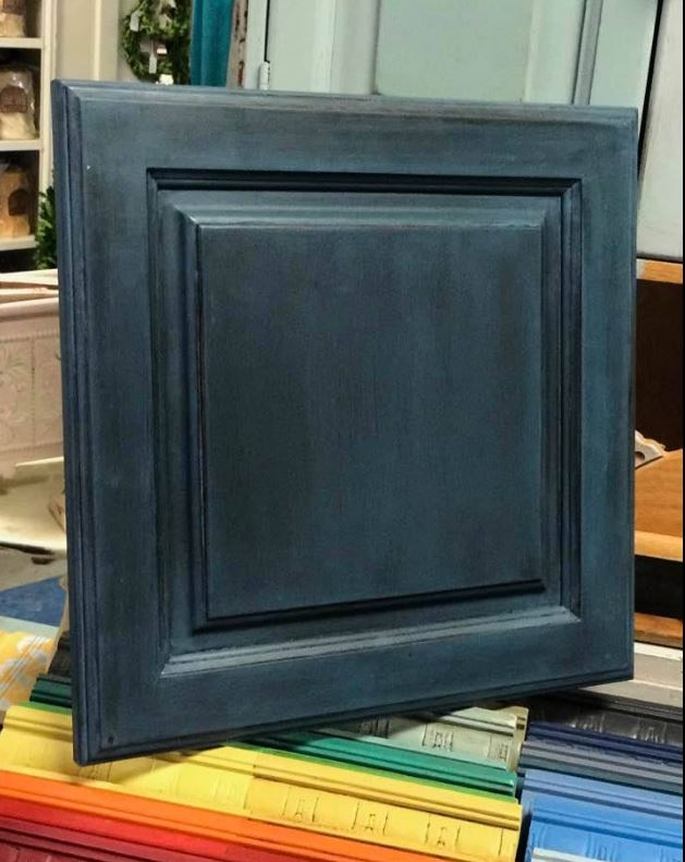 Aubusson Blue Greek Blue Cabinet Custom