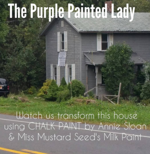 Little Gray House The Purple Painted Lady