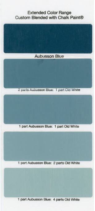 Aubusson Blue Chalk Paint 174 Graphite Wash And Black Wax