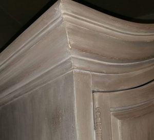 Honfleur French Linen And Old White Wash Armoire The