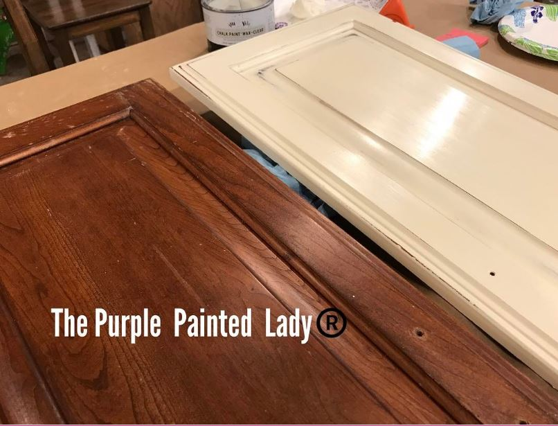 Chalk Paint By Annie Sloan Is So Easy Kitchen Cabinets The - Painting laminate floors before and after