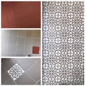 Another Tile Floor Transformation With Chalk Paint 174 The