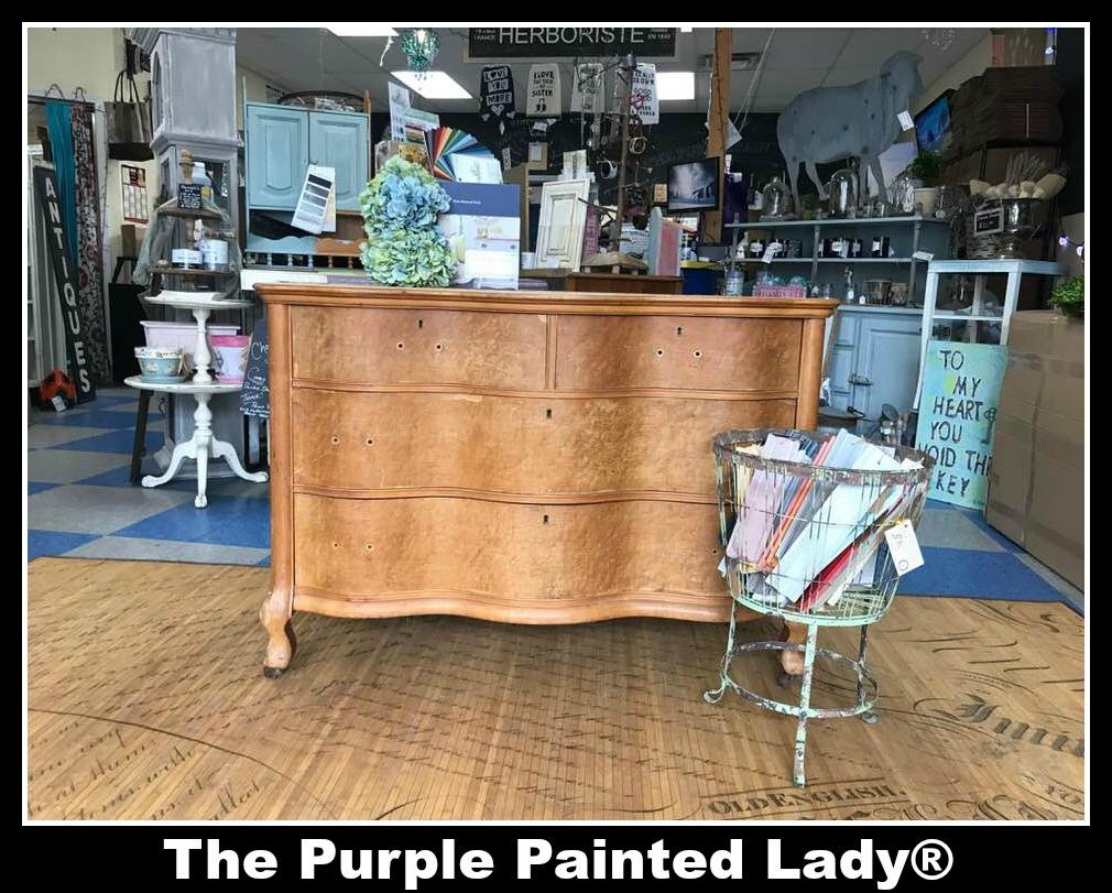 Using Milk Paint On An Old Serpentine Dresser The Purple