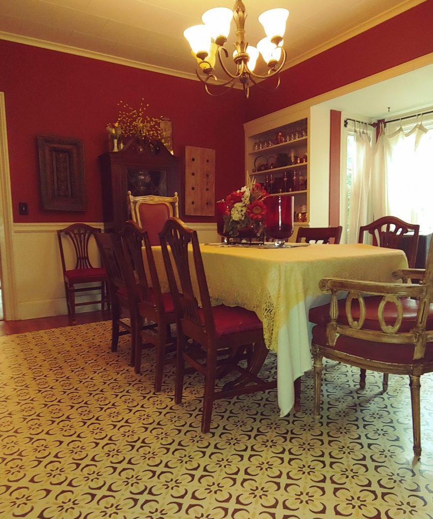 Painted Kitchen Floor Cloth: Linoleum Floor Cloth Using Chalk Paint® By Annie Sloan