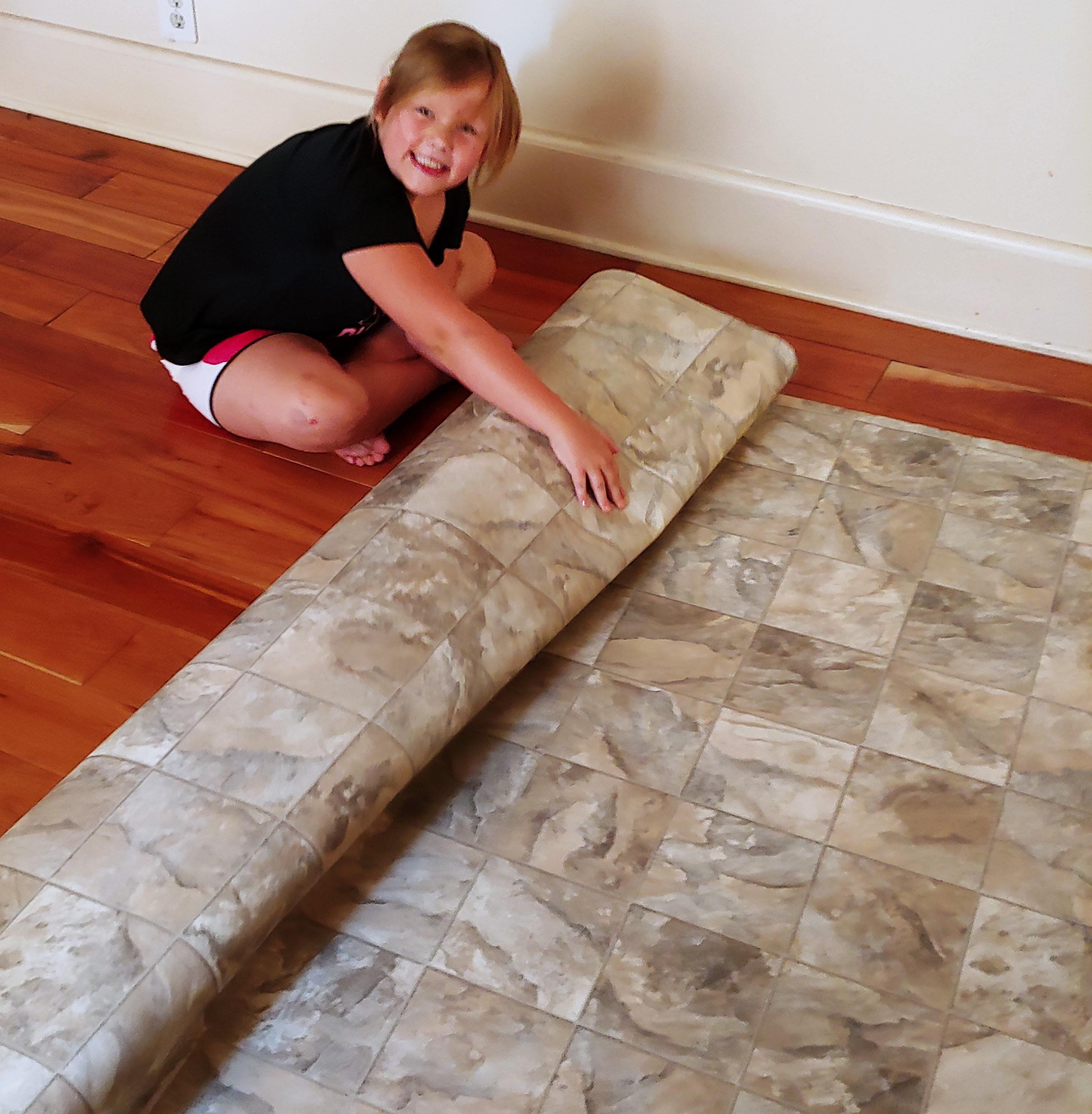 Create A Floor Cloth Using Chalk Paint
