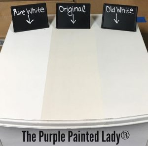 Difference In Pure White Original Amp Old White Chalk Paint