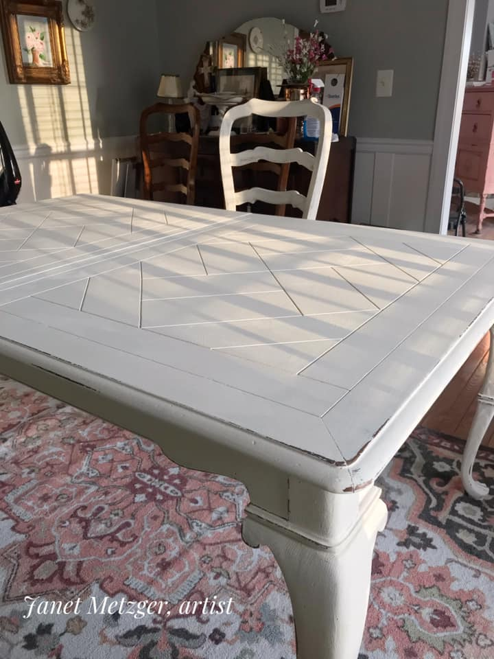 Dining Room Set With Chalk Paint